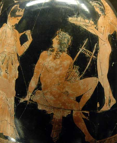 Adonis with Aphrodite, c. 410 BCE (Louvre; photo: Jastrow)