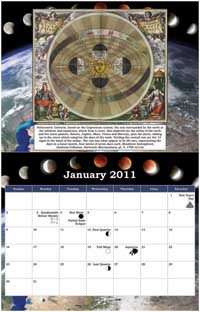 2001 Astrotheology Calendar month of January image