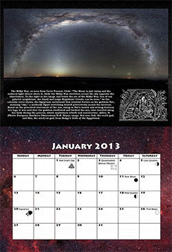 2013 Calendar month of January - CLICK TO ENLARGE