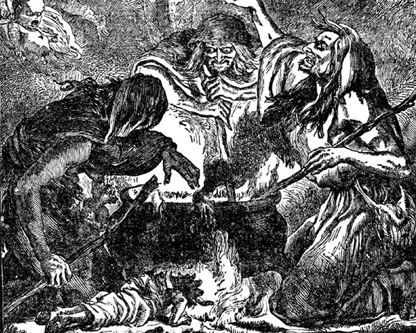 Three Witches or Weird Sisters from Shakespeare's 'Macbeth'