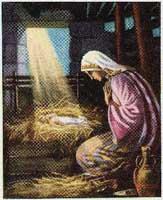 baby jesus sun god manger