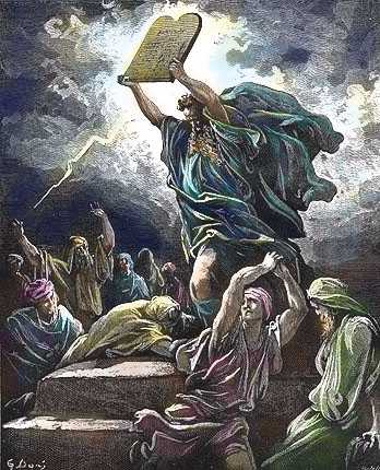 moses smashes the tablets