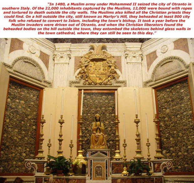 otranto cathedral skulls beheaded