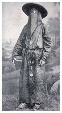image of an Italian monk wearing