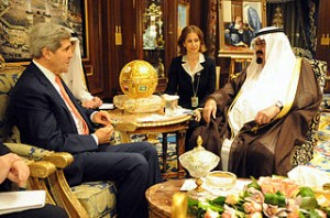 John Kerry meets with King Abdullah