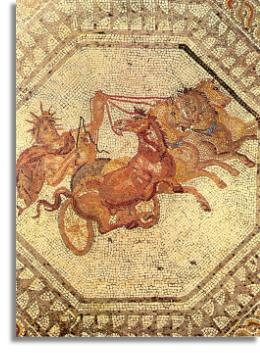 Apollo riding in his sun chariot