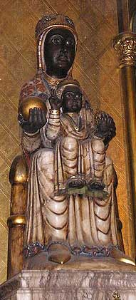 Black Madonna and Child from the Cathedral of Santa Eulalia, Barcelona, Spain
