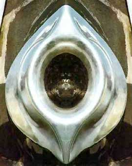 Black Stone (al-Hajaru-l-Aswad) in the Kaaba at Mecca, encased in a yoni-shaped silver frame