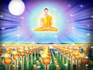 Buddha attaining to Nirvana
