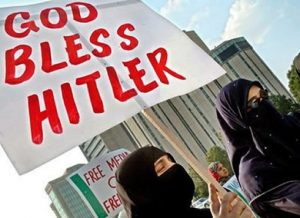 God bless hitler Muslim woman image