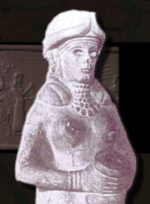 Horned goddess Ishtar