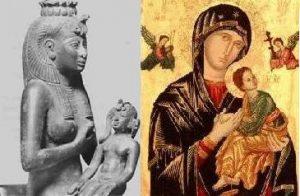 Isis nursing Horus Mary Jesus image