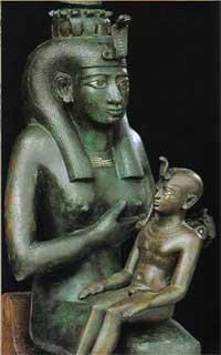 Isis nursing her Divine Son, Horus