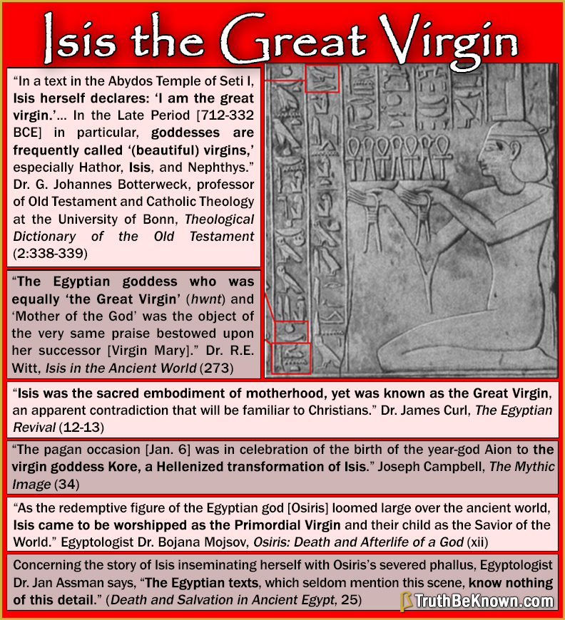 Isis the Great Virgin