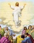 Jesus ascends bodily into heaven