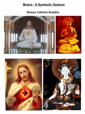 Jesus and Buddha doing similar mudras or hand gestures