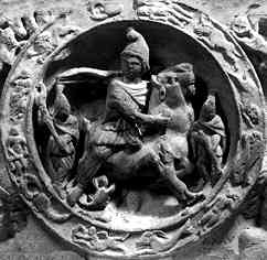 Mithra surrounded by the zodiacal 12 (London)