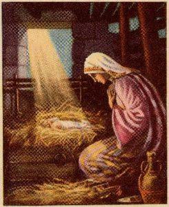 Jesus sun god in manger