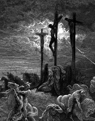 Matthew 27:46: 'My God, my God, why hast thou forsaken me?' Ilus. Gustave Dore