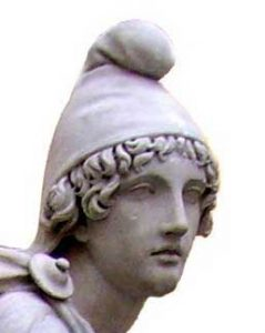 Mithra wearing a Phrygian cap