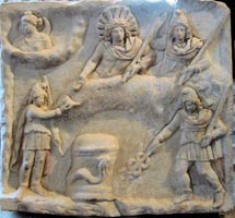 Mithraic sun worship image