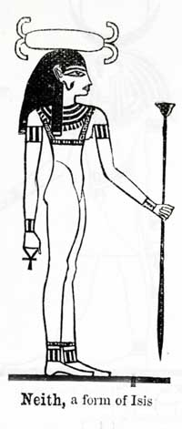 Neith, Virgin Goddess, Form of Isis