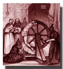 Victim of Christianity/Catholicism being tortured