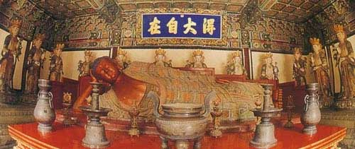 Reclining Buddha with 12 disciples, Wofo Si Temple, Beijing
