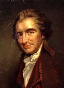 Thomas Paine; oil by Auguste Millière (1880), after an engraving by William Sharp, after a portrait by George Romney (1792)