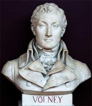 Bust of Constantin-François Volney; Salle du serment du jeu de paume, Versailles; photo by Philippe Dessante