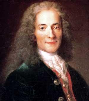 François-Marie Arouet, aka Voltaire; oil by Catherine Lusurier; Musée national du Château et des Trianons