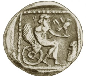Coin found in Gaza with the Jewish god